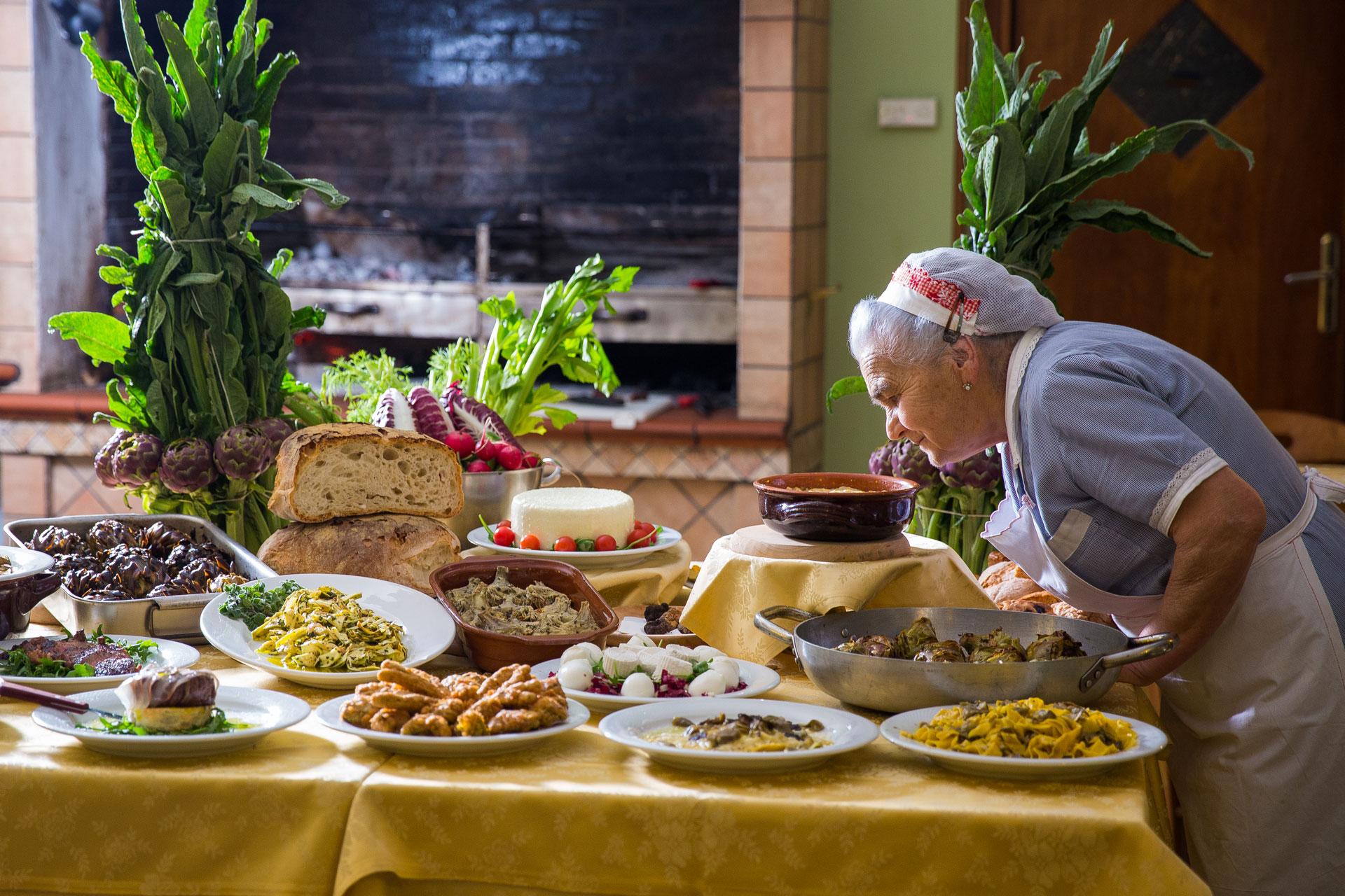 Piatti tipici tradizione locale a sezze ristorante da for Piatti tipici della cucina romana